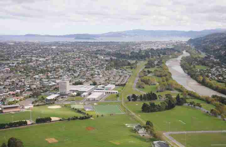 Avalon Studios aerial shot showing production facilities neighbours