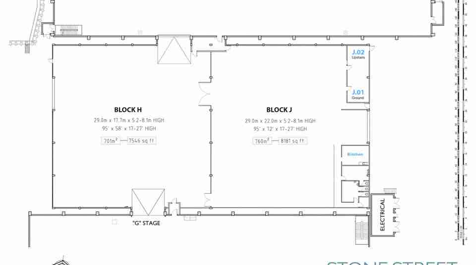 Stone Street Studios_Stage H and J detailed floor plan
